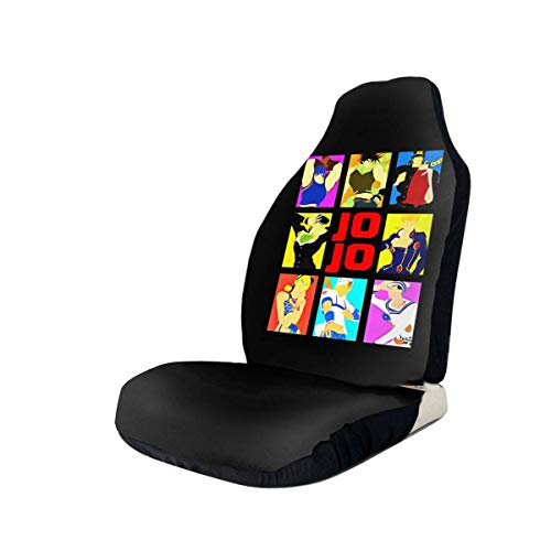 Swell Hengshiqi Car Seat Covers Jojos Bizarre Adventure Car Seat Cover Automotive Front Seat Protectors Fit For Most Car Truck Suv 1Pc 2Pc Bralicious Painted Fabric Chair Ideas Braliciousco