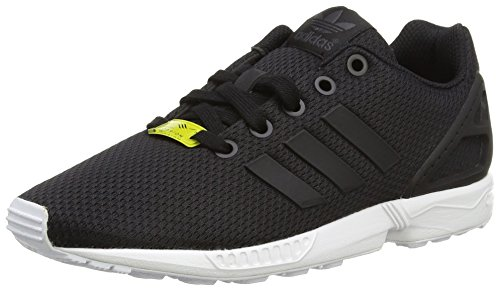 adidas Zx Flux J, Scarpe da Ginnastica Basse Unisex-Bambini, Nero (Black/Black/Footwear White 0), 37.5 EU