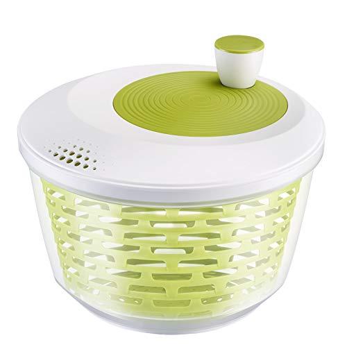 Westmark Salad Spinner, capacity: 4.4 litres, ø 23.5 cm, plastic, BPA-free, Spinderella, colour: transparent/white/green, 2430224A