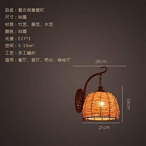 WEI-LUONG Pared de la cabecera de la lámpara de pared Luces Minimalista, Salón Dormitorio lámpara de cabecera de bambú Restaurante y Bar en la pared del pasillo del pasillo luces de la pared, Estudio