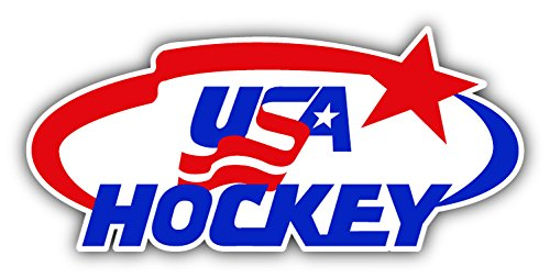 USA Hockey Sport Logo Die-Cut Car Bumper Sticker Decal 6'' X 3''