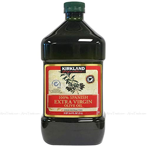 Kirkland Signature 100% Spanish Kosher Extra Virgin Cold Extracted Olive Oil 3L