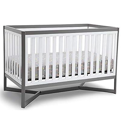 Delta Children Tribeca 4-in-1 Baby Convertible Crib, White/Grey from Delta Children