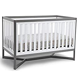 professional Delta Children Tribeca 4-in-1 Convertible Bed, White / Gray
