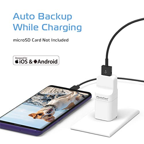 PhotoFast PhotoCube Pro (Type-A Port & Male), Auto Backup Photo Stick for iPhone, iPad & Android, External Storage Flash Drive, Photo and Data Keeper, File Organizer - SD Card Not Included (The Best Way To Backup Photos)