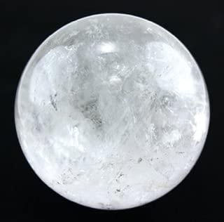 Healing Crystals India Natural Semi Precious Metaphysical Clear Quartz Ball Sphere 55 to 65 mm