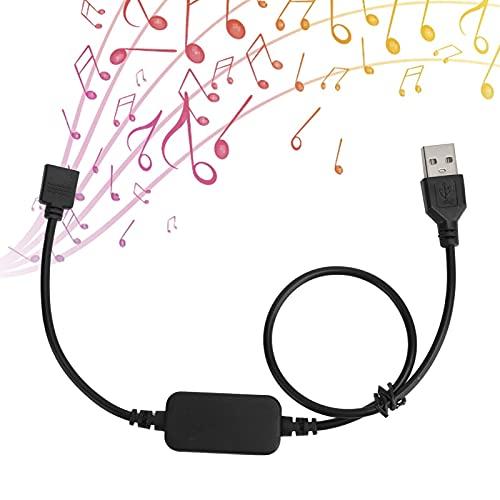 Plyisty Controlador de Tira de LED, Control de aplicación de teléfono Alimentado por USB de 5 V Controlador de Luces de Tira de LED RGB, sincronización de música de Soporte, para Fiestas, Bodas, etc.