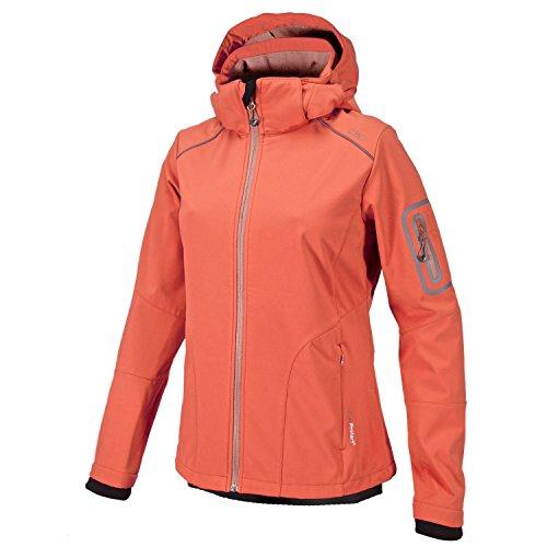 CMP Damen Softshelljacke Jacke, Orange(Pfirsich/Flamingo), 46 EU (Herstellergröße: 52)