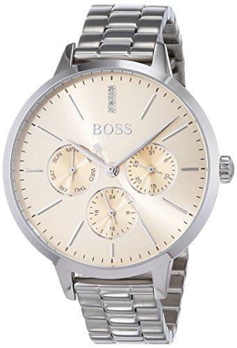 Hugo BOSS Reloj Multiesfera para Mujer de Cuarzo con Correa en Acero Inoxidable 1502421