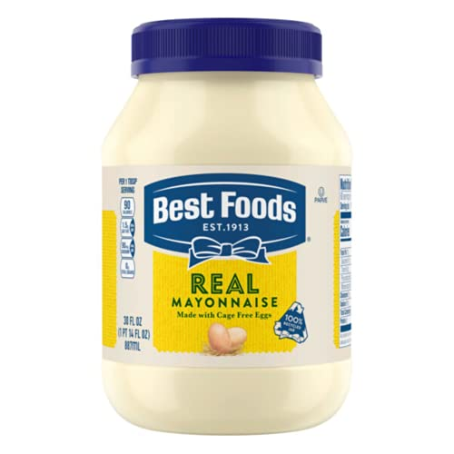 food mayonnaises Best Foods Real Mayonnaise For a Creamy Condiment for Sandwiches and Simple Meals Real Mayo Gluten Free, Made With 100% Cage-Free Eggs 30 oz