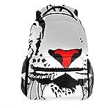 3D Abstract White Tiger Backpack Slim Backpacks Travel Laptop Rucksack Daypack