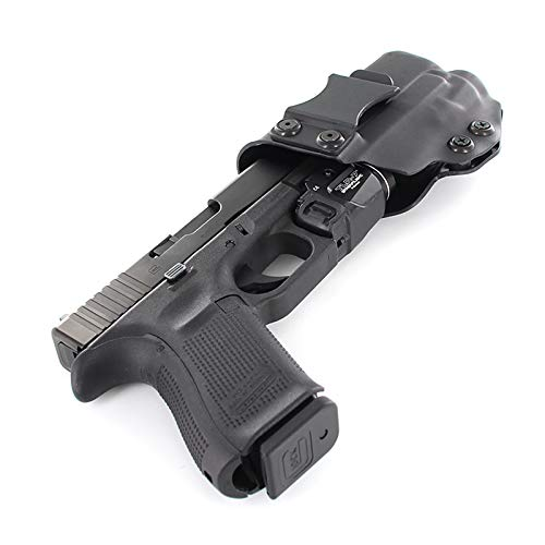 R&R Holsters: IWB Kydex Holster for Glock 19,23,32 with Streamlight TLR-7 (Gen 3-5 Compatible) - Matte Black (Right Hand, Glock 19,23,32 (Gen 3-5 Compatible))