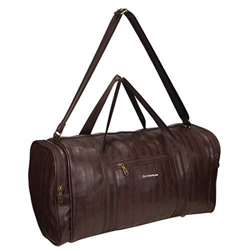 Cosmus Bermuda Borsone da viaggio 34 litri Marrone PU Elegante Cabin Duffel Bag