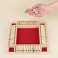 Comment jouer : la première étape, lancez les dés, puis ajoutez les cartes numérotées correspondantes obtenues en ajoutant les points des deux dés, ou choisissez les cartes numérotées correspondant aux deux tamis. Ce panneau en bois est un jeu amusan...