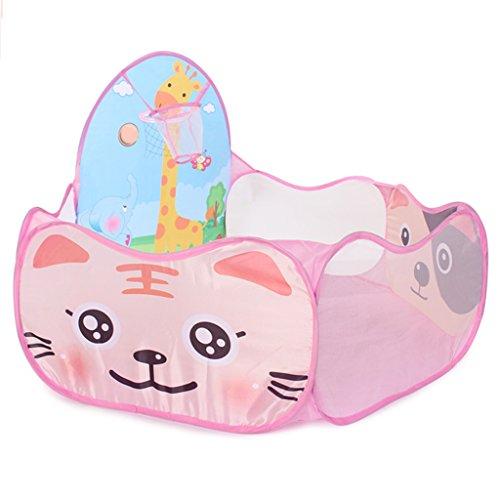 Baby Home Toy House Clôture de Jeu pour Enfants Garçon et Fille Centre d'activité de sécurité Indoor Tir Tir Tir Clôture Ocean Ball Pool (Color : B. Pink 2, Size : 60 * 72 * 120cm)
