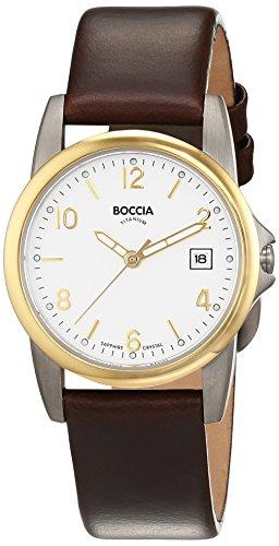 Boccia Damen-Armbanduhr XS Analog Quarz Leder 3298-05