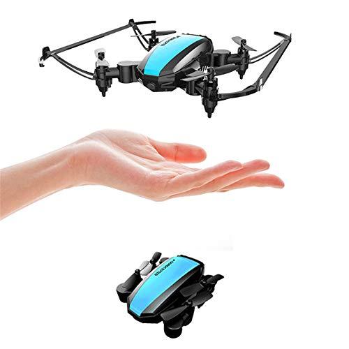 Mini drone, gyroscope à quatre axes, en mode sans tête, maintien d'altitude, 360 capotage Toy drones pour les enfants et les débutants qui peuvent être contrôlés par le biais de l'application,Bleu