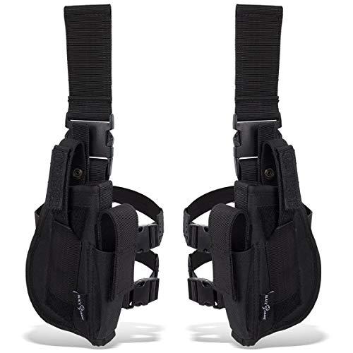 Black Snake® Tiefziehholster Set rechtes + linkes Beinholster - Schwarz