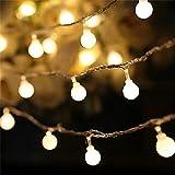 Ledライト10メートル100ライト小さなボールストリングバッテリーボックス付きライトストリングLedクリスマスライト家の装飾