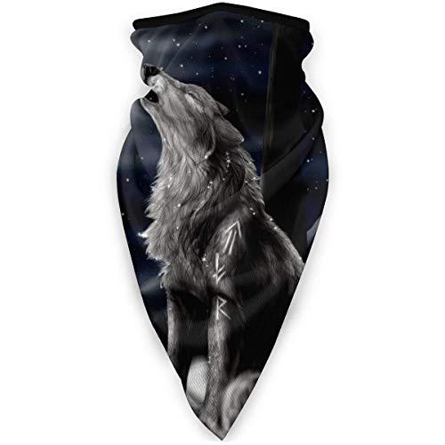 Yule Wicca Heidnische Goad Kerze Baum Windschutz Schal Staub Gesicht Schal Wiederverwendbare Arbeitssturmhaube BandanaWicca Wolf Wicca Mond