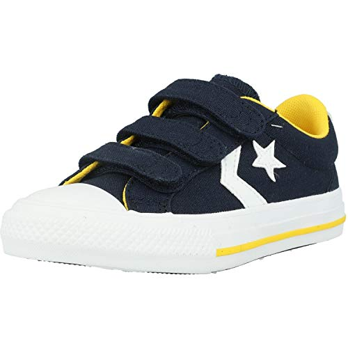 Converse Star Player 3V Obsidiana/Amarillo/Blanco Lona EU 32