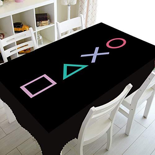 LEILEIMY Knappar heminredning knappar bordsduk för rektangel bordsduk tv-spel bordsduk kläder (färg: A, specifikation: 140140 cm)