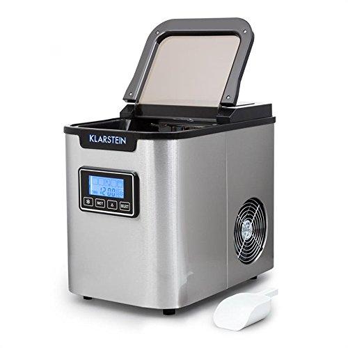 RÁPIDA: Con la máquina de hielo Klarstein Icemeister tendrás tus primeros cubitos de hielo en 15 minutos. Después, los producirá cada 10 minutos. Contiene un depósito en el que entran 1,1 litros de agua y, nada más llenarlo, comienza a funcionar. DIF...
