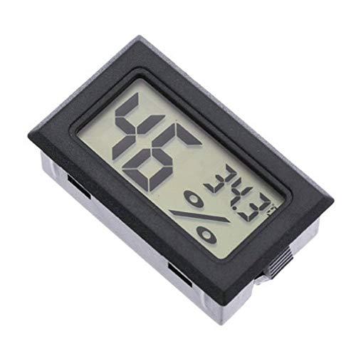 HehiFRlark Termómetro Portátil Integrado Higrómetro Inalámbrico Electrónico Digital Negro