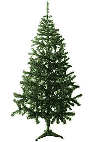 TIENDA EURASIA® Árbol de Navidad - Árboles de Navidad Artificiales - Soporte de Pie de Plástico - Medidas 120-210 cm - Verde y Blanco - Fácil Montaje - Incluye Caja de Embalaje (Verde, 150 CM)