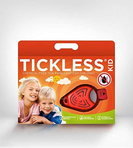 Tickless Kid Zeckenschutz für Kinder - Orange