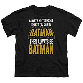 Batman Always Be Yourself Youth DC Comics T Shirt & Stickers