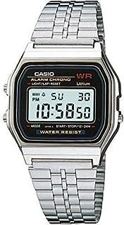 كاسيو ساعة عملية كاجوال لل رجال رقمي معدن - A W 159