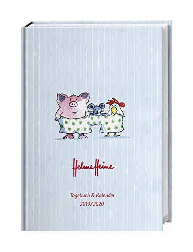 Helme Heine Kalenderbuch A6 - Schülerkalender 2020 - Heye-Verlag - 17-Monats-Kalender - Stundenpläne, Schulferien und Notenübersicht - 11,5 cm x 16,3 cm