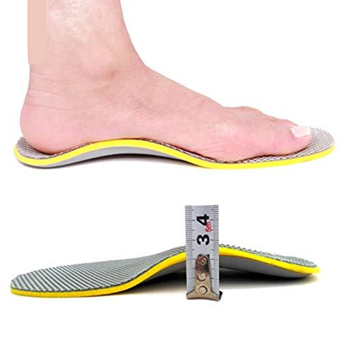 PPGE Home Memory Foam Plantillas de Masaje para Zapatos para Hombre y Mujer, Plantillas OrtopéDicas Soportes de Arco y Talones la AbsorcióN de Choque para el Dolor de TalóN 35~46 (Gris) 2 pairs-41~46