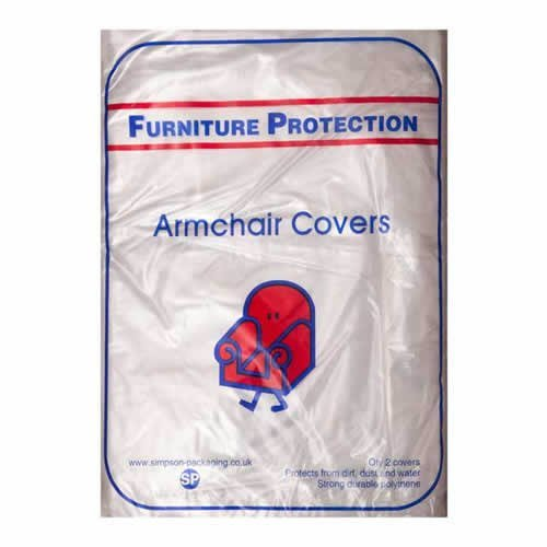 Caraselle Pack of 2 x Polythene ArmChair Protection Covers
