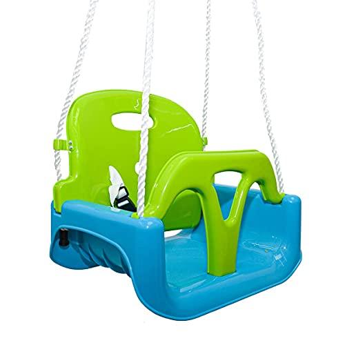 LittleTom 3-in-1 Kinderschaukel für Baby und Kleinkind - 40x43x33 Gartenschaukel - Outdoor Schaukel