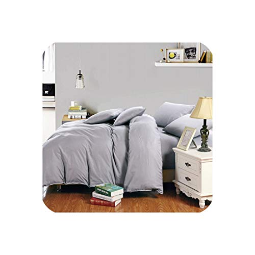 Goods-Store-uk Beddengoed Set Europa Queen Tweepersoons Koning Dekbedovertrek Set Bed Linnen Set Wit Zwart Grijs Bedkleding
