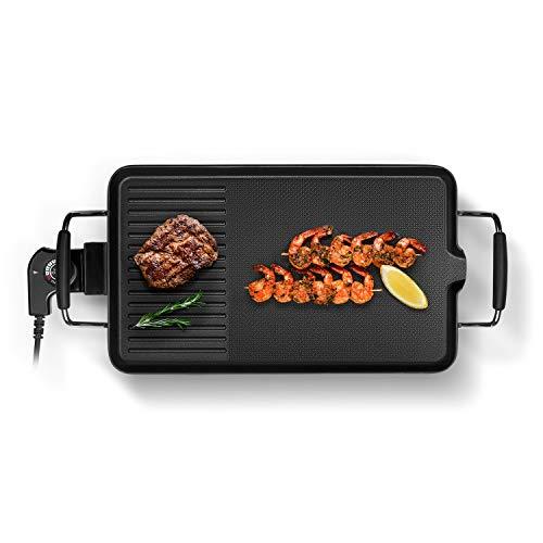 Self Ideas - Plancha Grill. Barbacoa/Grill eléctrico con Superficie de cerámica Antiadherente....