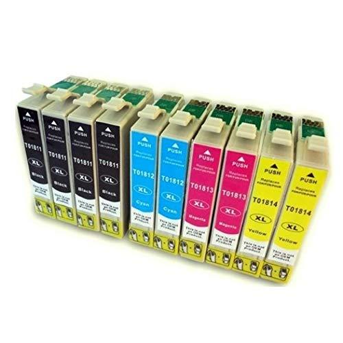 Bramacartuchos - 10 X Cartuchos compatibles NON OEM para Epson T1811, T1812, T1813,T1814,683405255772,