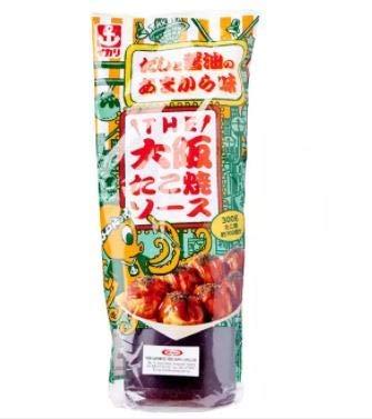 Ikari Takoyaki-Sauce von Osaka, 300 g, bürsten Sie Ihre knusprigen Takoyaki-Bälle mit dieser Sauce und füllen Sie sie mit japanischem Mayo und Algen für die ultimative Zufriedenheit auf.