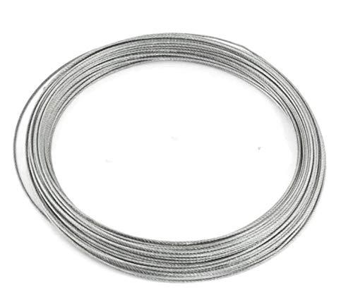 (ラフマトーン) ステンレスワイヤー ワイヤーロープ 0.6mm 0.8mm 1.0mm 1.2mm 1.5mm 2.0mm 2.5mm 3.0mm スチールワイヤー ワイヤー SUS304 錆びにくい 18-8ステンレス (1.5mmX25m)