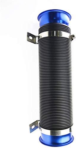 Centeraly Coche Aire Tubo de Aspiración, Aluminio Filtro Protección Admisión de Aire Manguera Entrada Tubo Modificar Reparación Coche Motor Flexible Tubo Tubo Manguera Kit - Azul, Free Size
