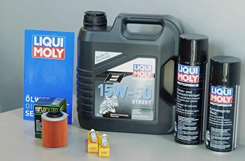 MotorFunSports Kit d'entretien pour Moto Aprilia Tuono 1000 Service Inspection Bougie d'allumage
