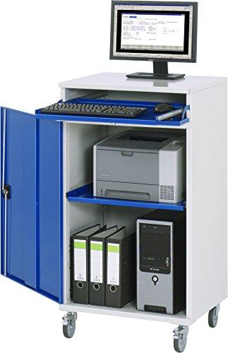 RAU 07 650-M60F.11 Modell 60 Computer-Schrank, lichtgrau/enzianblau, 80 x 80 x 80 cm