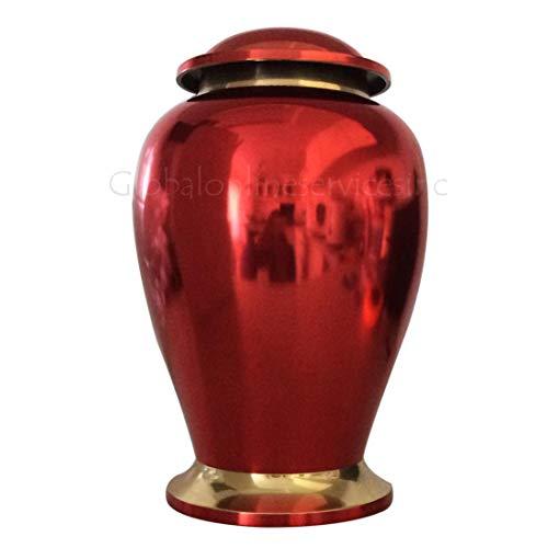 Cremation Urns Urne funéraire souvenir Rouge rubis - Laiton