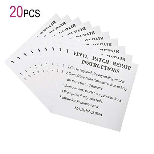 Nobrand 20 piezas TPU Transparente Reparación Patch para Inflable Airbeds, Piscinas, Colchones, Boyas, Juguetes (20 piezas)