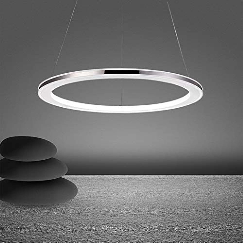 25W Moderne LED Hngeleuchte Rund Pendelleuchte Acryl und Edelstahl Hngelampe Hhenverstellbar Esszimmer Deckenlampe Wohnzimmer Küche Esstisch Lampe Stufenloses Dimmen mit Fernbedienung
