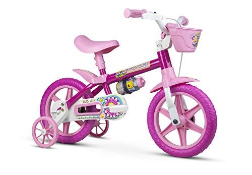 Bicicleta Infantil Aro 12 Flower com Rodinhas, Nathor