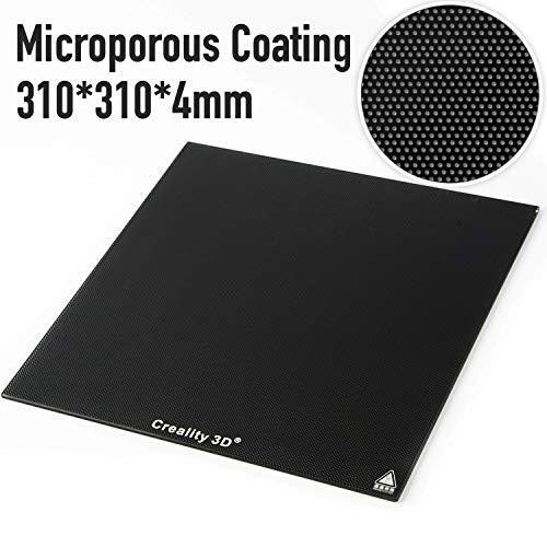 Creality 3D Drucker Plattform 3D Druckbettband Beheiztes Glasplattform platte 310 x 310MM mit mikroporöser Beschichtung für CR-10/CR-10S (310x310mm)