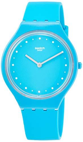Swatch Reloj unisex de cuarzo para adulto, con correa de silicona, color turquesa, 20 (modelo: SVOL100)